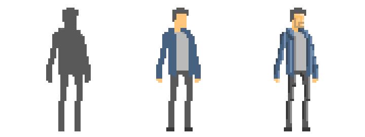building pixel art