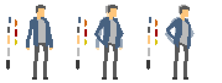 pixel art animation process