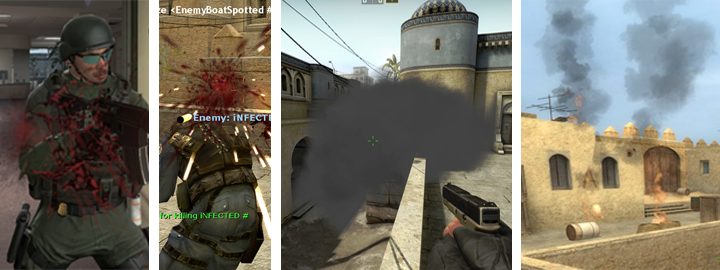 counter strike effects comparative over different versions