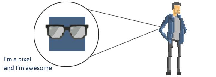 A closer look to a pixel