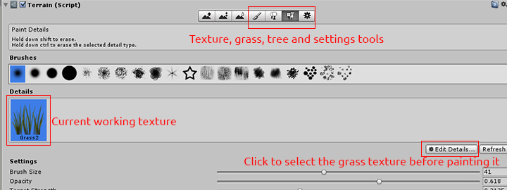 texture and grass painting tools