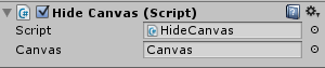 configure script from the inspector