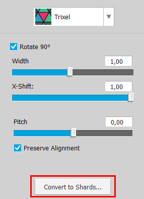 Use this button to convert an old project to shards
