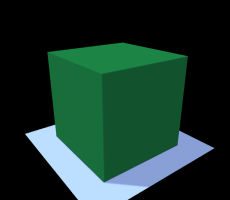 A huge green voxel
