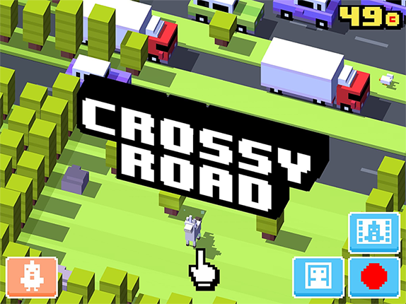 Crossy road. Nice voxel looking graphics